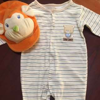 Sale!!! Ren'e ro'fe over all suit for baby (free orange dog cap)