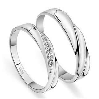 Sliver 925 Couple Ring (CR-001)