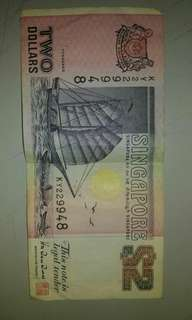 rear 2$ Singapore replacement money