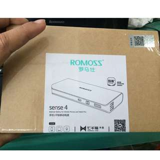 COD! BUY 1 TAKE 1! Romoss Sense 4 10400mAh Powerbank (White/Gray)