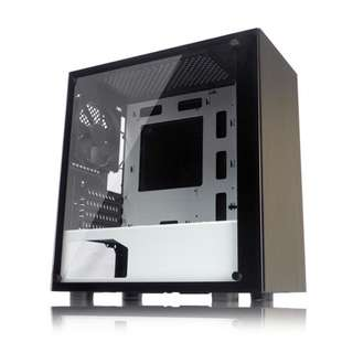 BNIB - TECWARE NEXUS M BLACK/WHITE TEMPERED GLASS mATX GAMING CASING