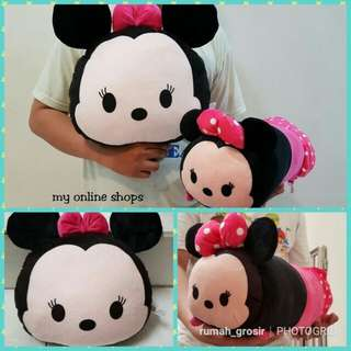 Paket bantal+guling tsum minnie mouse