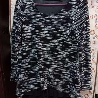 針織短版洋裝