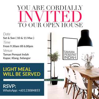You Are All Invited To Our Open House Event!!!