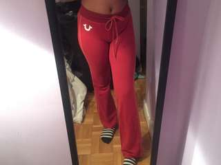 True Religion | Red trackpants