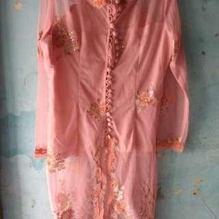 Kebaya pink salem fit to xl freeong jabodetabek