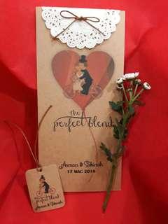Kad Kahwin / Wedding card (Kraf kad)