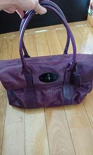 Mulberry紫色皮革手拿包