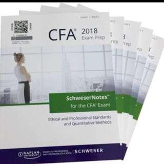 Cfa level 1 schweser books