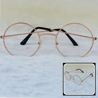 Harry Potter Style Eyglasses (Gold)