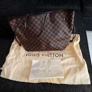 Preloved 100% Authentic Louis Vuitton Neverfull MM