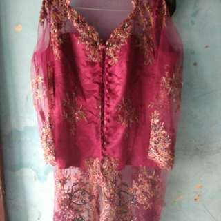 Kebaya pink fanta fit to xl freeong jabodetabek