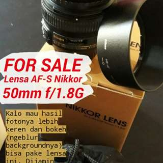Lensa NIKON 50mm f1.8g