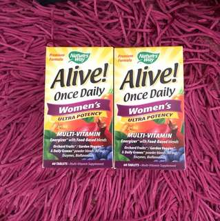 Alive once daily women's ultra potency