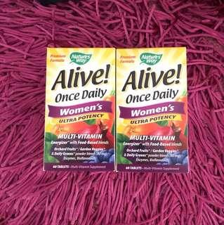 Alive once daily women's ultra potency