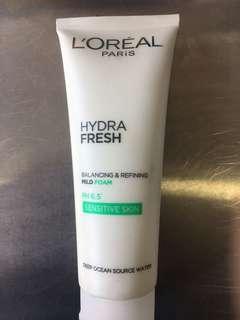 Loreal hydra fresh mild foam