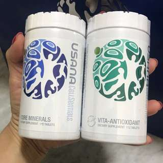 🌈(Ready Stock)💯Brand New In Bottle Sealed Usana® CellSentials™ - Core Minerals and Vita-Antioxidanti (112 tablets each)