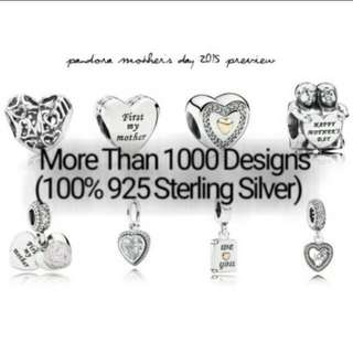 Over 1000 Designs (925 Sterling Silver Charms) To Choose From, Compatible With Pandora, T05