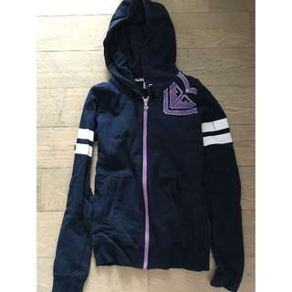 Roxy - zip up hoodie jacket in dark blue