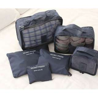 Travelling bag organizer (1 set isi 6 pcs) HPR214