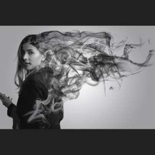 I will turn your hair into smoke (smoke effect edit on portrait photo)