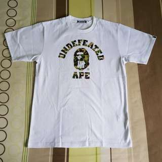 Undefeated Bape T Shirt Size M