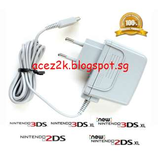 [BN] Official 3DS / 2DS new / XL / LL AC Adapter WAP-002 (Brand New)