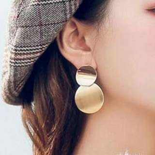SALE - Anting Korea Geometric Double Round