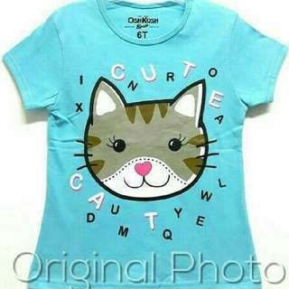 Kaos karakter anak motif kucing