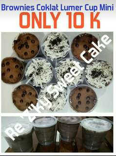 Brownies Lumer Full Coklat Mini / Cake Lumer