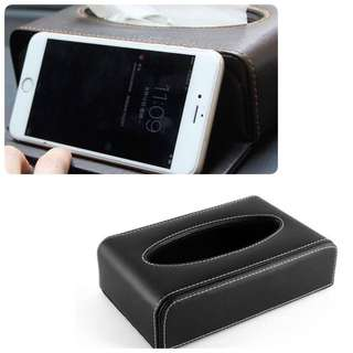 Good Quality car Tissue Box & Phone Stand