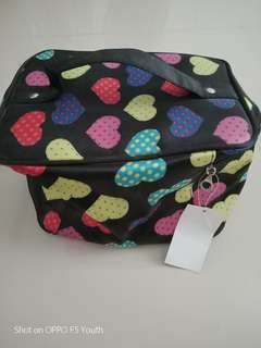 Makeup pouch with mirror