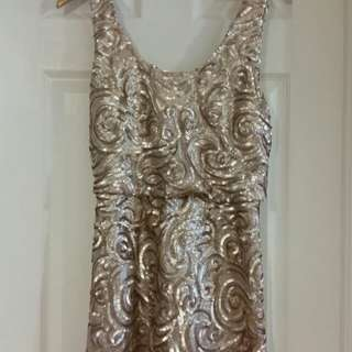 Sequined Party Dress by Mango (MNGO) Size 2