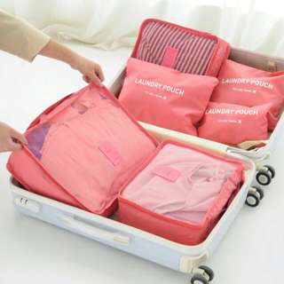 6pc Travel Organiser