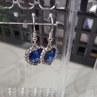 Blue Heart Shape Earrings