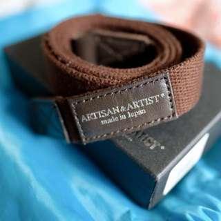 Artisan and Artist Brown Cloth Camera Strap