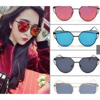 Retro Women Mirrored Lenses designer vintage sunglasses
