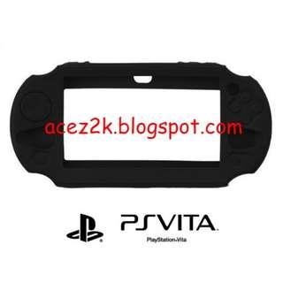 [BN] PSV PS Vita 1000 / 2000 Slim Silicone Cover Casing - Black (Brand New)