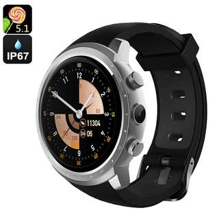 Android 5.1 Smart Watch Phone – MTK 6580 Quad-Core ,8GB ROM, 2.0MP Camera, Pedometer (Sliver) Or (Black) (CVAGY-W079)