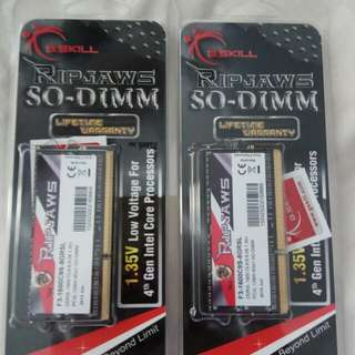 BNIB G.SKILL Ripjaws DDR3 sodimm 16gb (8gb x 2)
