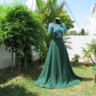 FOR RENT - The Queen Anne's Lace Evening Gown