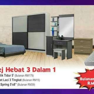 Promosi Bedroom Set Bayar Ansuran Kedai