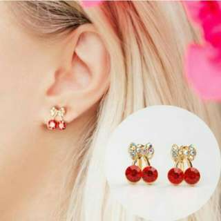 BEST SELLER - Anting Cute Sweet Red Cherry