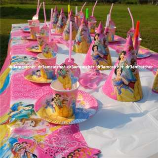 Disney Princess party set for 10 (ready stock)