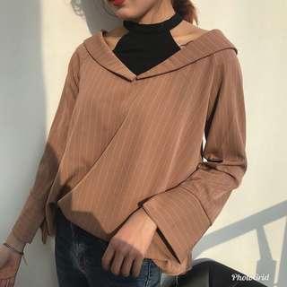 Korean collar neck top