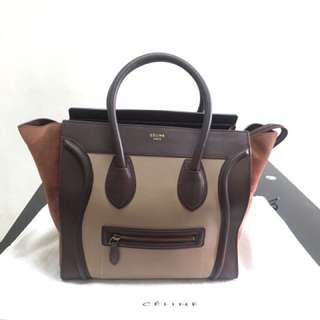 Celine Tri-color Mini Luggage bag