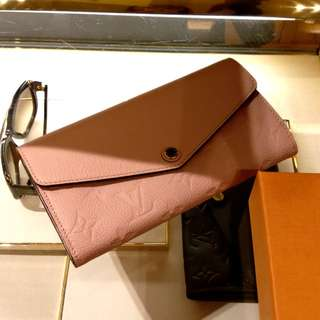 LV Pink Leather Wallet