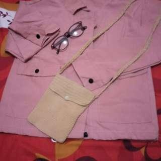 Jacket kanvas Baby pink