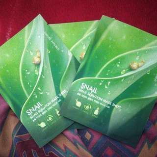 3 pcs Snail Solution Mask
