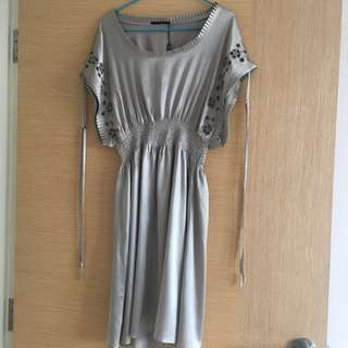 BNWT Elie Tahari Silk Embroidery Dress